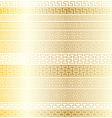 gold fretwork borders vector image
