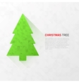 Modern flat christmas tree with triangles vector image