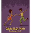salsa dancers vector image