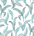 Seamless pattern with line leaves vector image