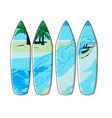 surf board vector image