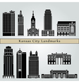 Kansas City landmarks and monuments vector image