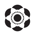 Flower icon isolated vector image