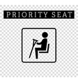 Disabilities or cripple with crutches sign vector image