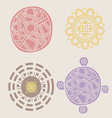 indian ornamental collection vector image vector image