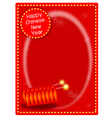 Two Firecrackers on Chinese New Year Background vector image