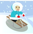 Child sledges vector image