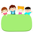 border template with happy kids vector image