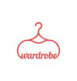 red vintage wardrobe icon vector image