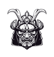 Samurai Mask 4 vector image