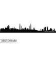 Abu Dhabi city skyline silhouette background vector image