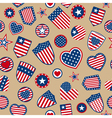 Seamless pattern of USA symbols vector image vector image