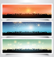 Grassy landscape banners vector image