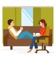 Cabinet psychologist vector image