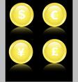 golden financial icons vector image