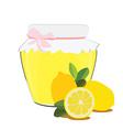 Lemon jam vector image