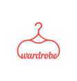 red vintage wardrobe icon vector image