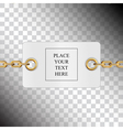 Card chains vector image vector image