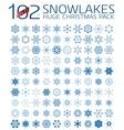 102 abstract Christmas snowflakes vector image