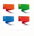 colorful design templates numbered vector image vector image