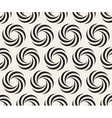 Seamless Black and White Spiral Geometry vector image