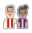 man woman couple icon image vector image