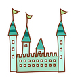 A castle stand on vector image vector image