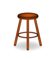 retro stool in brown design vector image