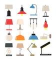 chandeliers modern lamps on desk and floor in vector image