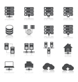 Hosting technology pictograms set vector image