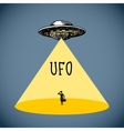 Ufo poster sketch vector image vector image