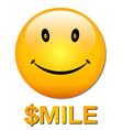 rich smiley vector image vector image