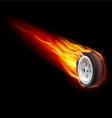 Fire wheel vector image