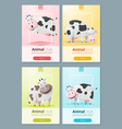 Animal banner with Cows for web design 2 vector image