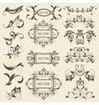 Set monograms floral ornaments vector image