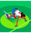Running Starting Blocks Teen Marathon 3D Flat vector image