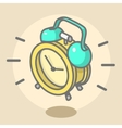 Alarm Clock Ringing And Jumping Cartoon vector image