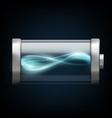 battery with plasma isolated on a black background vector image