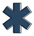 cross medical isolated icon vector image