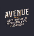 decorative vintage retro typeface font alphabet vector image
