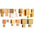 many closets vector image