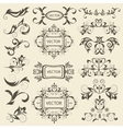 Set monograms floral ornaments vector image