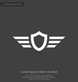 shield wings premium icon vector image