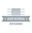 sound record logo simple gray style vector image