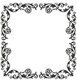 Corner elements Decorative vintage ornament for vector image
