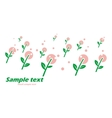 Primitive postcard with spring flowers vector image vector image
