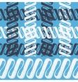 SEAMLESS BORDER ORNAMENT INTERIOR WALL FRIEZE vector image