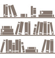 tile pattern with books on white background vector image
