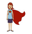 color image caricature full body super hero woman vector image