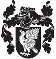 heraldic silhouette No13 vector image